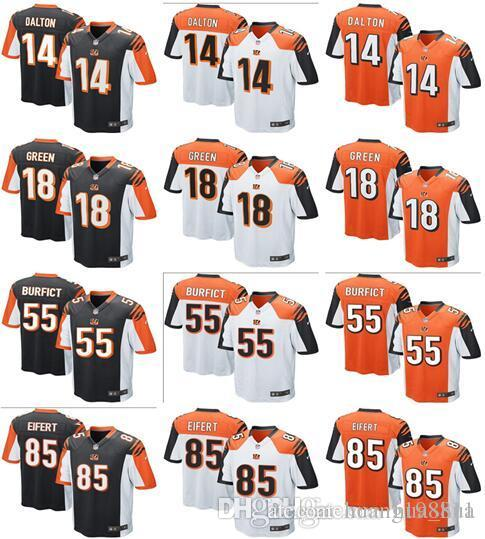 Men s Womens Kids Cincinnati Bengals Jersey 18 AJ Green 14 Andy Dalton 85  Tyler Eifert 55 Vontaze Burfict Football Jerseys Jersey Online with   20.77 Piece ... e21e67fb76
