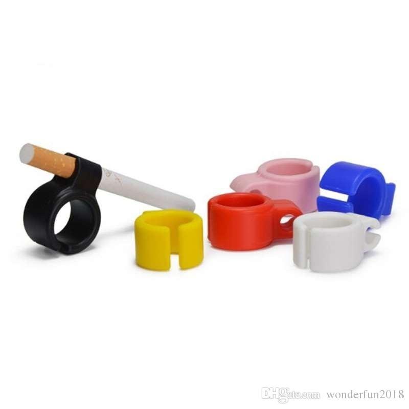 Nuevo anillo protector del dedo del silicón del protector del dedo del cigarrillo para los anillos regulares del cigarrillo que fuman accesorios