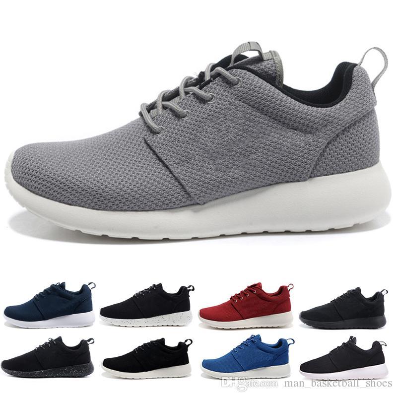 huge selection of bed62 4fcca Compre Nike Air Rose Run One Negro Blanco Gris Rojo Zapatos Para Correr  Tanjun Hombres Mujeres Zapatos Para Correr Olímpico De Londres Al Aire  Libre Para ...