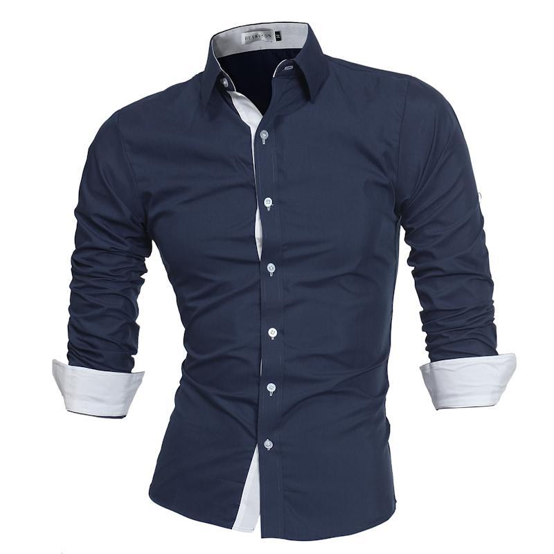 Babykleidung Jungen Männer Freizeit Hemd Marke 2018 Männlichen Hohe Qualität Langarm Shirts Casual Hit Farbe Slim Fit Mann Kleid Shirts Asiatischen Größe M-5xl Online Rabatt