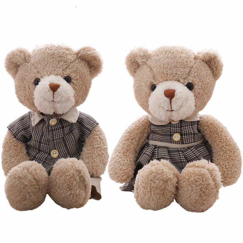 fc97382269a4 2019 35cm Couples Teddy Bear Plush Toys Soft Stuffed Animal Bear Doll For  Kids Girls Valentine Gift Cute Birthday Gift From Toyshome, $24.43 |  DHgate.Com
