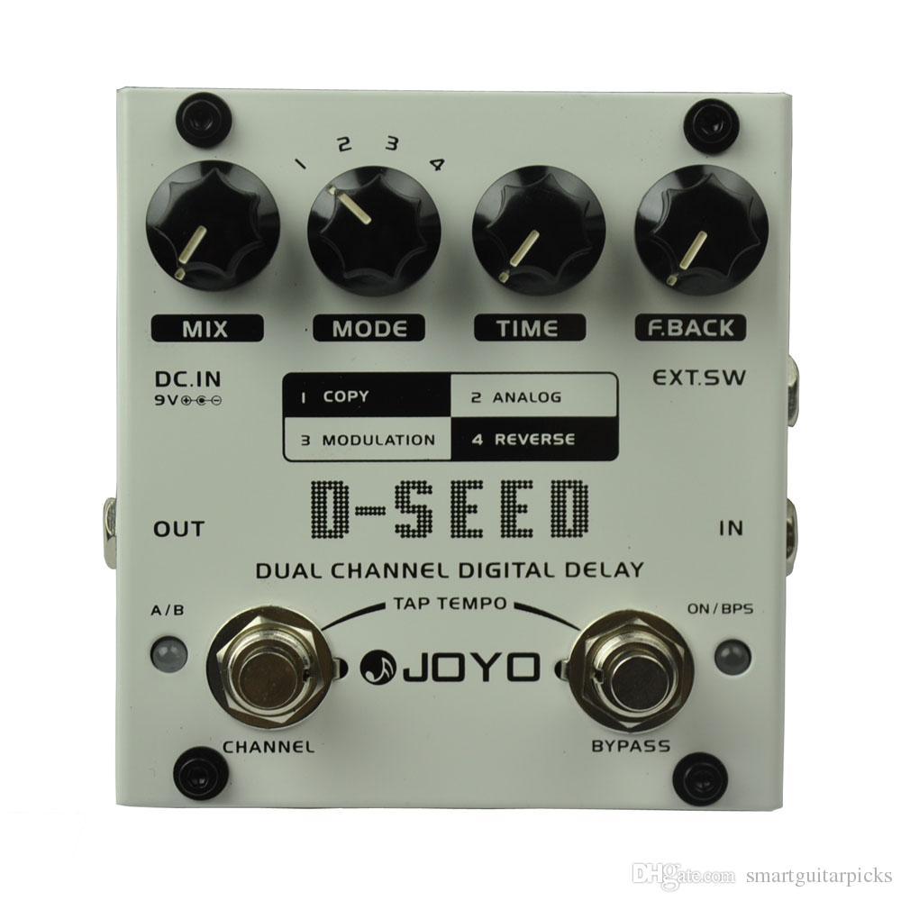 JOYO D-SEED Çift Kanallı Dijital Gecikme Gitar Efekt Pedal Maks. Gecikme 6 saniye