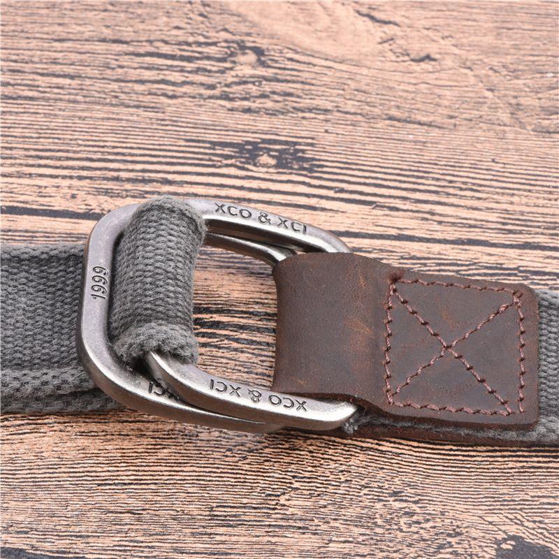 Men's Belt 2017 New canvas belt cotton the genuine double ring Army Tactical Waist Belt casual strap pure jeans weaving belts