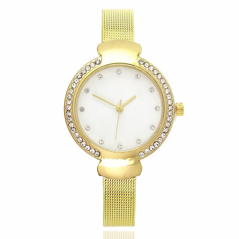 b2caf6a6d5ab Compre Relojes De Pulsera De Cuarzo Reloj Casual Banda De Acero Inoxidable Horas  Reloj Moda Mujer De Lujo Relojes Mujer Reloj Mujer Bayan Kol Saat A  21.93  ...
