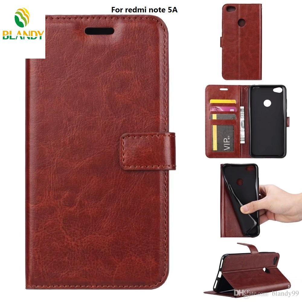 big sale e8cc2 1aaa6 For Xiaomi redmi note 5 pro india version Crazy horse wallet leather PU TPU  phone photo frame cover Case For redmi note 5A 5 plus