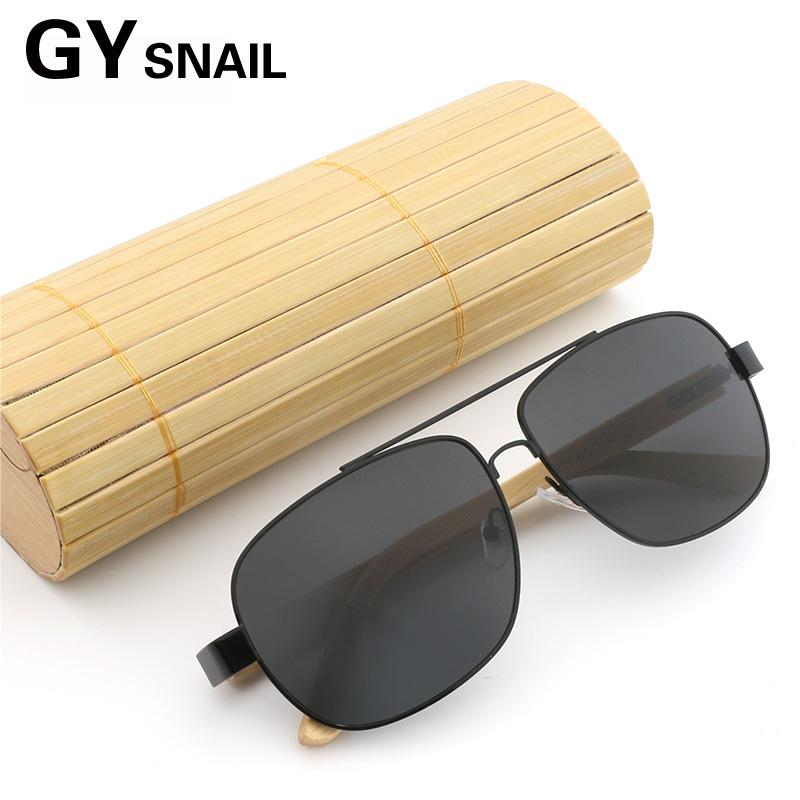 d44bc4b0df1 GY Bamboo Wood Sunglasses Women Polarized Pilot Wooden Glasses Female  Square Sun Glasses for Men Brand Designer Vintage Wood Box Online with   35.85 Piece on ...