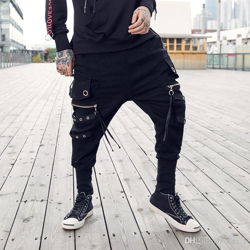 Compre Pantalones Harem De Desinger Para Hombre Pantalones De Chándal  Negros Para Correr Pantalones De Chándal Sueltos De Hip Hop Pantalones De  Chándal Para ... 8091a1f9ad3