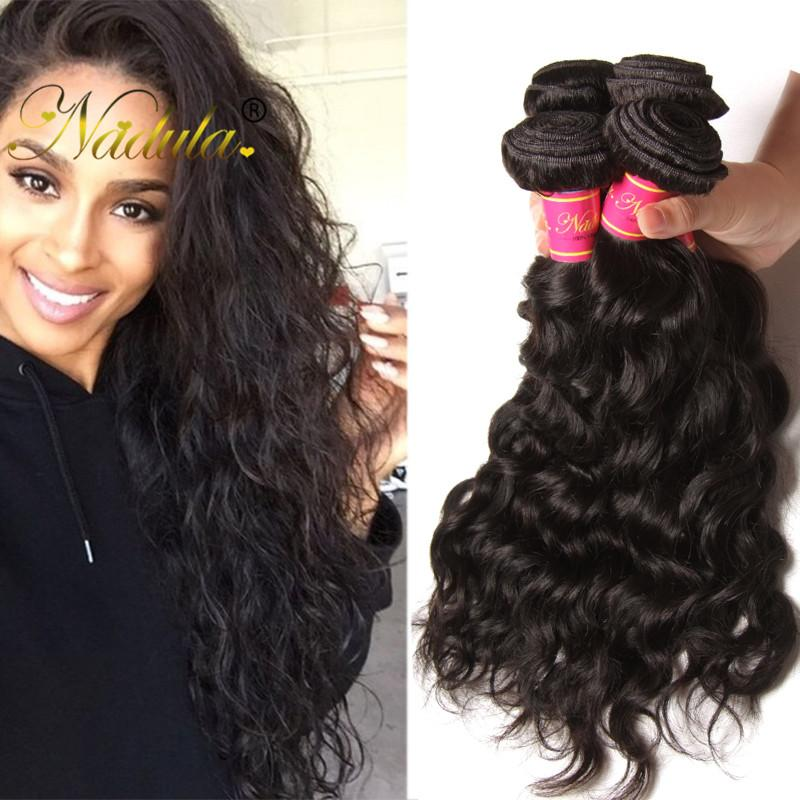 Nadula Virgin Brazilian Hair Extensions Natural Wave 5bundles Cheap