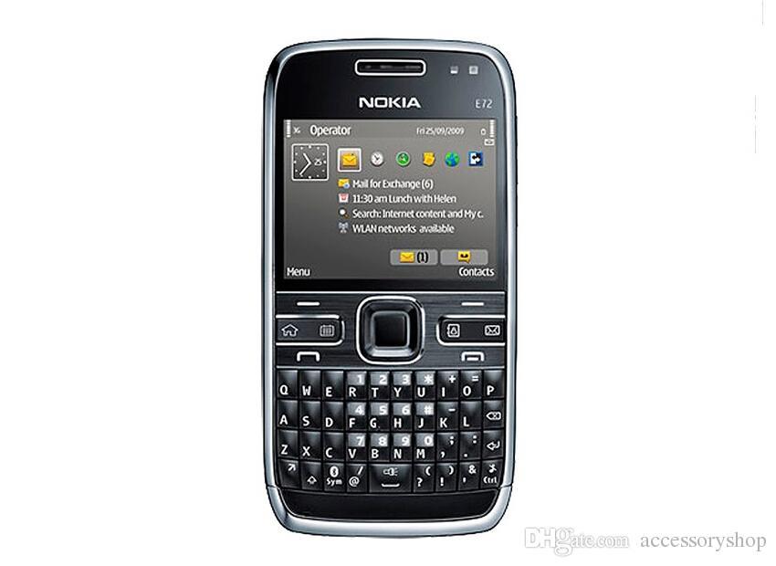 Remis à neuf Original Nokia E72 Déverrouillé Téléphone Portable Écran 2.36 pouces 5MP Caméra 3G Bluetooth GPS Clavier QWERTY Téléphone Free Post