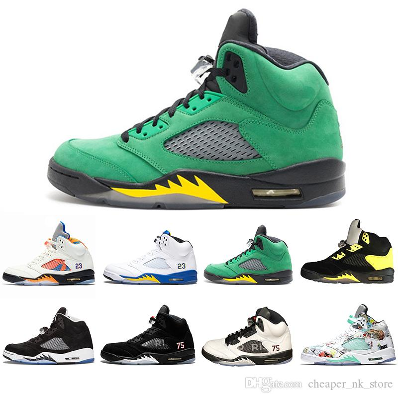 af8a395abbaa With Box 5 5s Wings International Flight Men Basketball Shoes ...