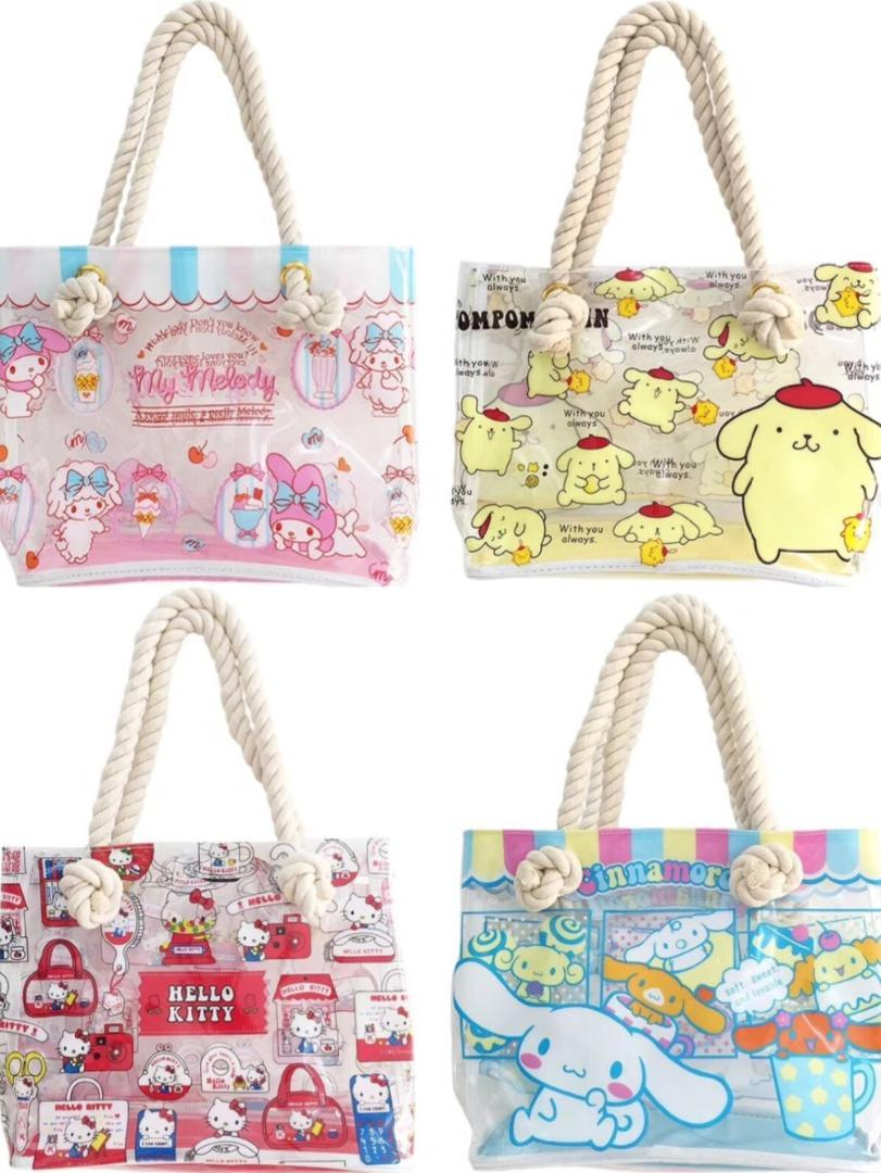 d7cc7338e0b4 New Cartoon My Melody Hello Kitty Cinnamoroll Twin Stars Clear Jelly  Transparent PVC Shopping Bag Portable Travel Shoulder Bag Wholesale Bags  Wholesale ...