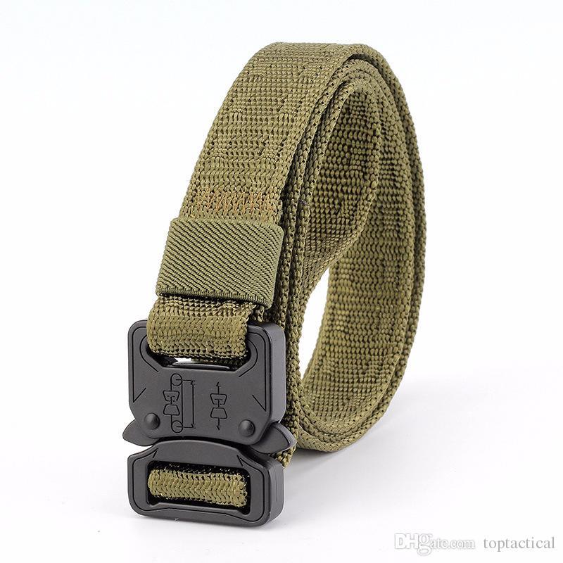 Toptan Yüksek Kalite Ucuz 2.5 CM Yeni Çok Fonksiyonlu Savaş Taktik Yumuşak Naylon Kemer Ordu Eğitim Görev Kemer