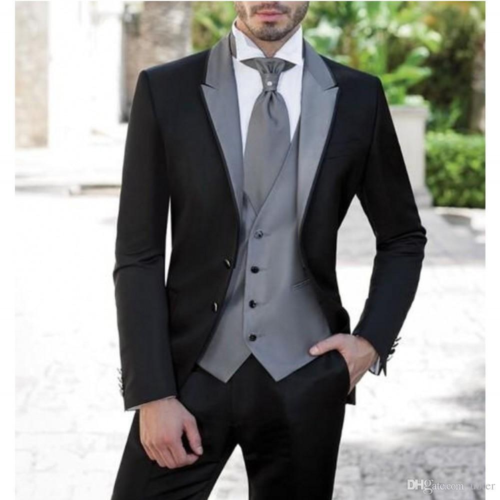 Grosshandel Kostenloser Versand New Style Manner Anzug Mit Splitter