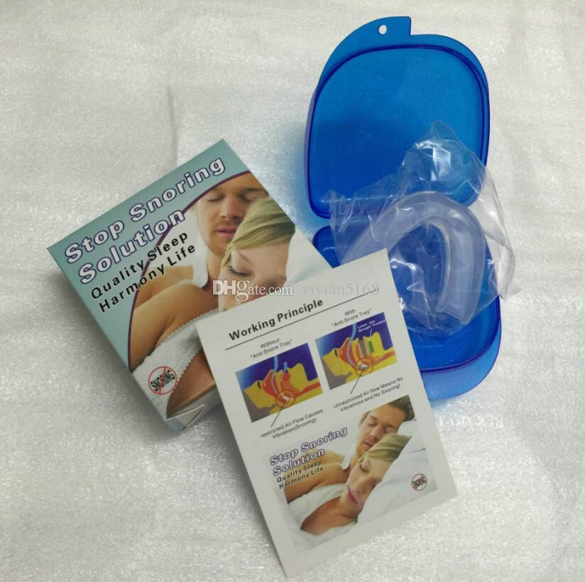 Anti Snore Apnea Kit Mouthpiece anti snore mouth tray Snoring Stopper Stop Snoring Solution Safety Food grade material with box