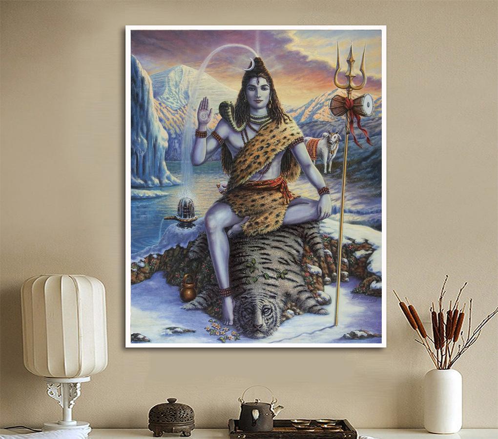 wandbilder poster und drucke wanddekor frameless lord shiva olgemalde leinwanddruck fur wohnzimmer schlafzimmer kein rahmen