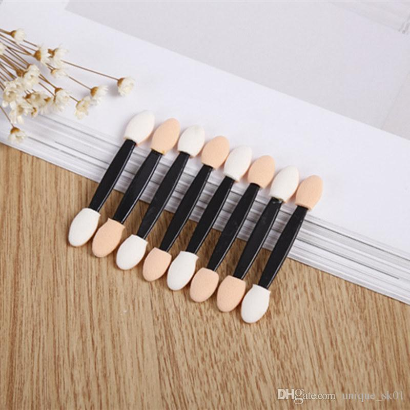 Top Quality Disposable Eyeshadow Eyebrow Eyeliner Lip Brush Sponge Dual Side Makeup Brush Applicator Tool for Women Beauty