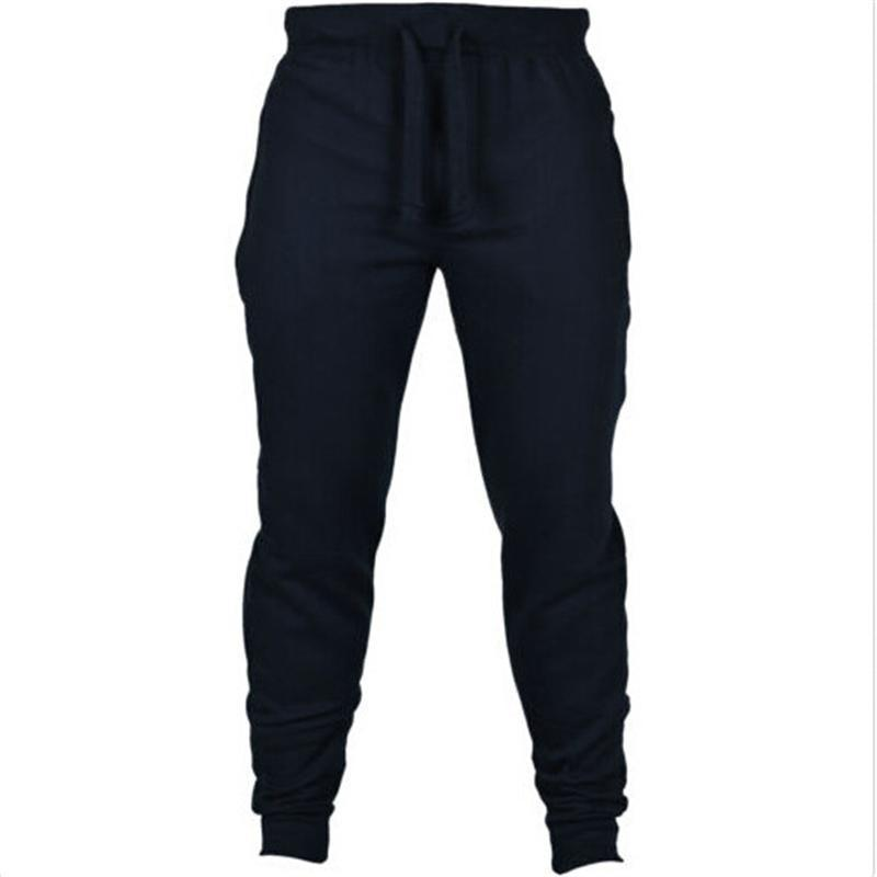 cea099719 Men s Designer Pants Training Joggers For Men Trousers Solid Sweatpants  Jogger Loose Elastic Cotton Fitness Jogging Long Pants S-2XL