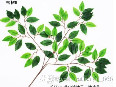 artificial silk ficus leaf branches ginkgo leaves spray greenery