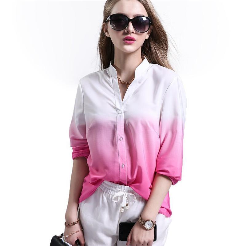 Großhandel Mode V Ausschnitt Langarm Frauen Bluse Shirt Frühling Blusas 2018  Neue Herbst Frühling Casual Hemd Plus Größe Damen Blusas Von Bestshirt005,  ... 08a0c3121f