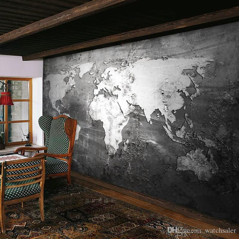 Custom Mural Wallpaper Retro Style World Map Wallpaper Wall Covering Study Living Room Sofa TV Backdrop Wall Papers Home Decor