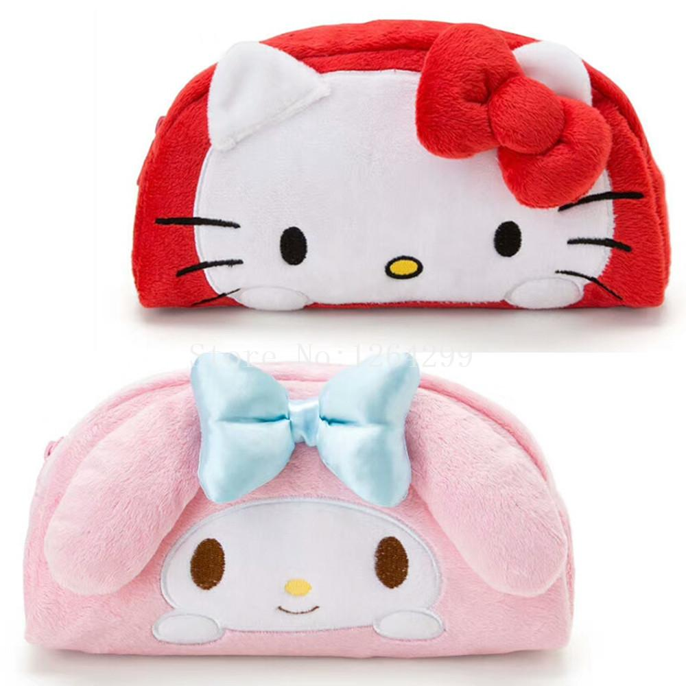 6b1ae953f7 New Fashion Hello Kitty My Melody Girls Kids Plush Cosmetic Bags Cases For  Children Gifts Makeup Personalized Cosmetic Bags From Kennady