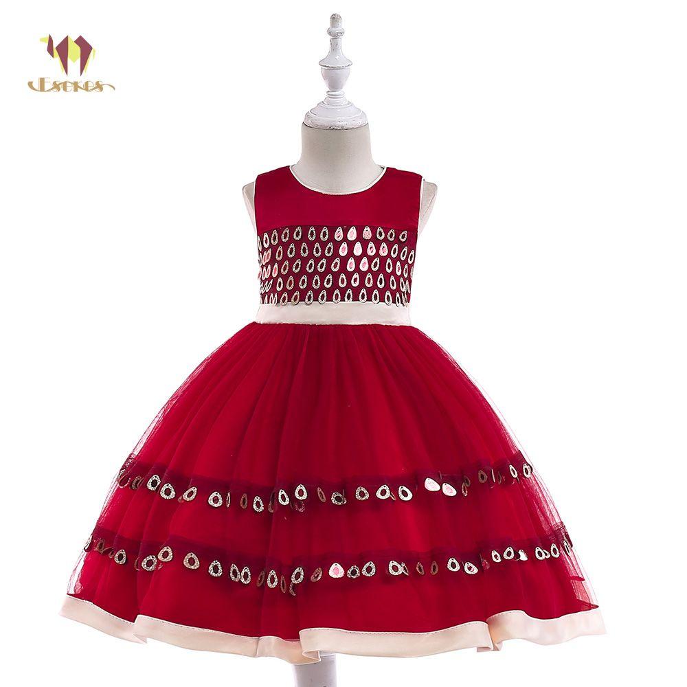 2018 Eseres Bohemian Ball Gown Dresses For Girl Red/Blue Sleeveless ...