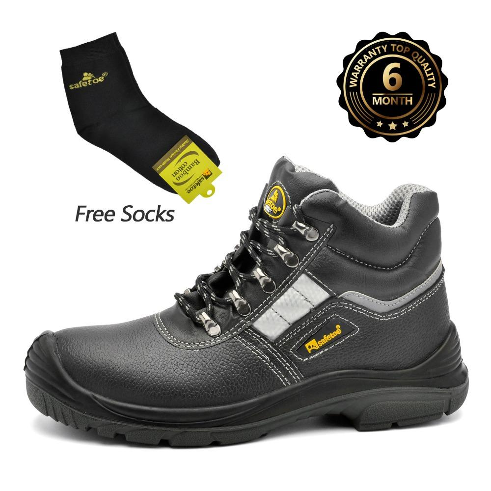 f6f0a4d09a1 Safetoe Brand Safety Shoes Work Boots Men Steel Toe Cap Light Weight  Breathable Working Safty Footwear S3 Size 37-46