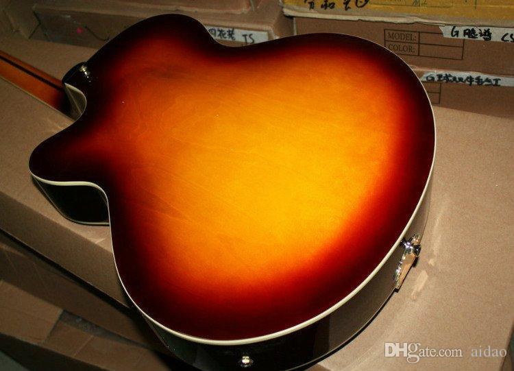 Custom Shop Honey Burst 3 Pickup Semi-Hollow Jazz Guitar Rosewood Envío gratis
