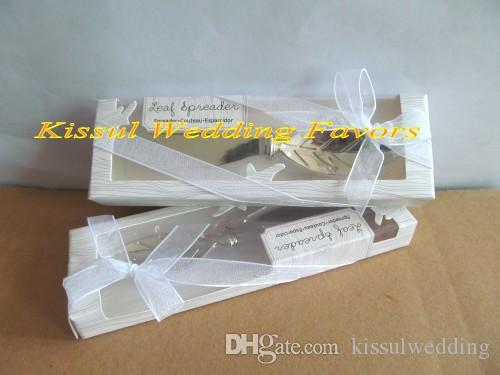 Silver Wedding Favors and Gifts of Chrome Leaf Spreader Wedding Gift for guests For Autumn Wedding Theme