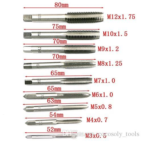 NC Machine Screw Metric Tap and Die Bit Set | Adjustable Tap Die Wrench M3- M12 | Carbon Steel Tap & Die Sets M3-M12