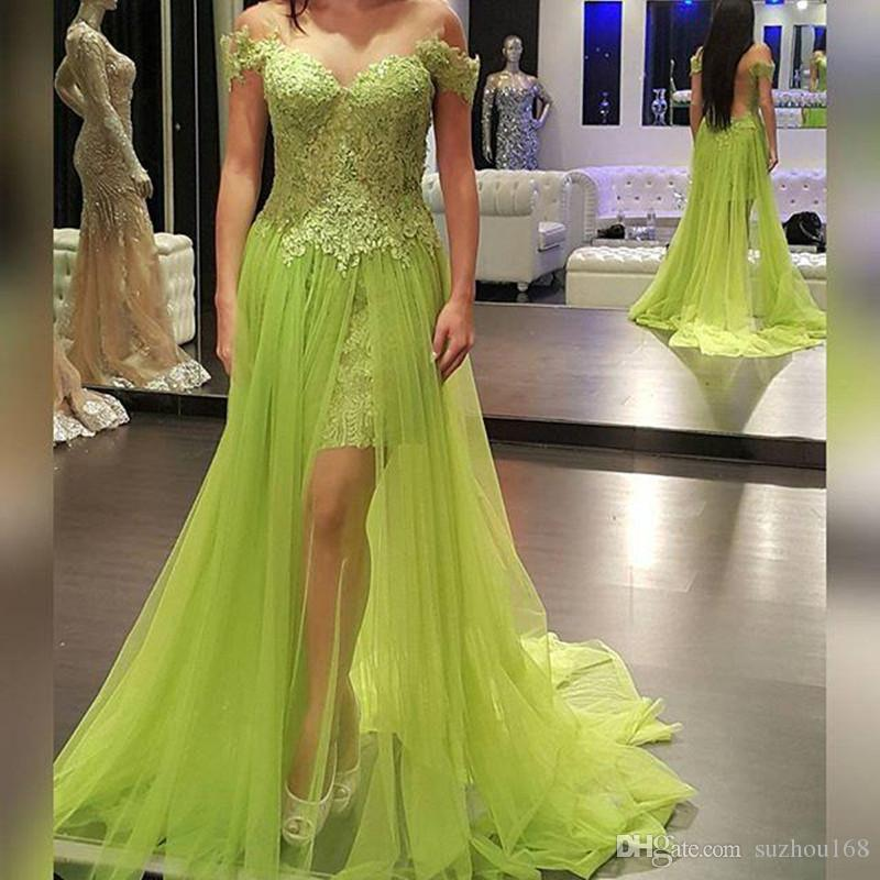 be04e12c4b1 Sexy Sweetheart Lace Tulle Evening Dress Short Sleeves Off Shoulder Prom  Gown Backless Side Opening Party Dress Purple Dresses Special Occasion Dresses  From ...