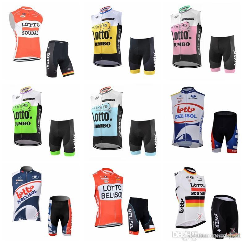 f23c9d98f LOTTO Team Cycling Sleeveless Jersey Vest Shorts Sets New High Quality  Outdoor Mountain Bike Sports Wear 840919 LOTTO Cycling Jersey Camisa De  Ciclismo Ropa ...