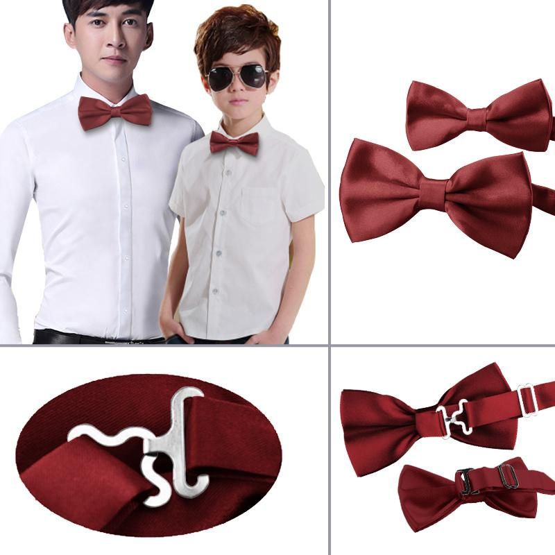 e52213ef5c2f Wholesale- 2PCS Father and Son Bowtie Boy Kids Bow Tie Butterfly Adjustable  Wedding Kid and Men's Bowtie Bow Ties For Men 35 Colors TZQZa. 1  Transactions