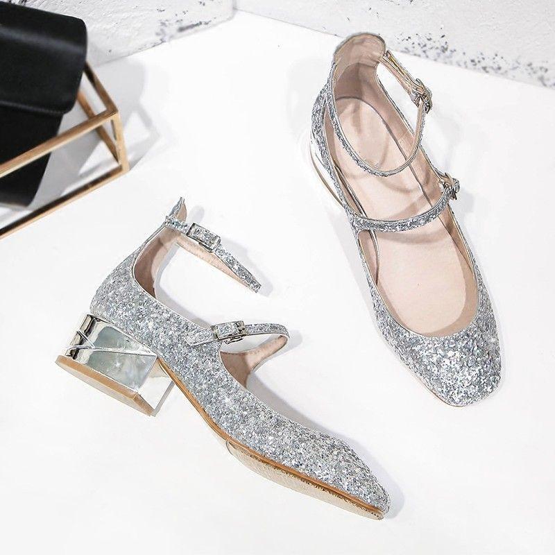 fac476d3abb Wedding Shoes Woman Luxury Brand Designer Fashion Shoes Silver ...