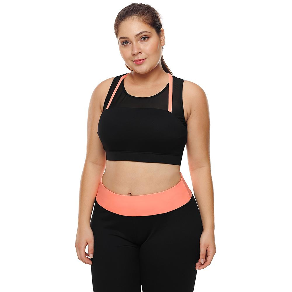 19e79cebb1fee 2019 Women Big Plus Size XXXL Fitness Crop Top High Impact Support Bounce  Control Push Up Padded Running Yoga Workout Sports Bra 2018 From Peniss