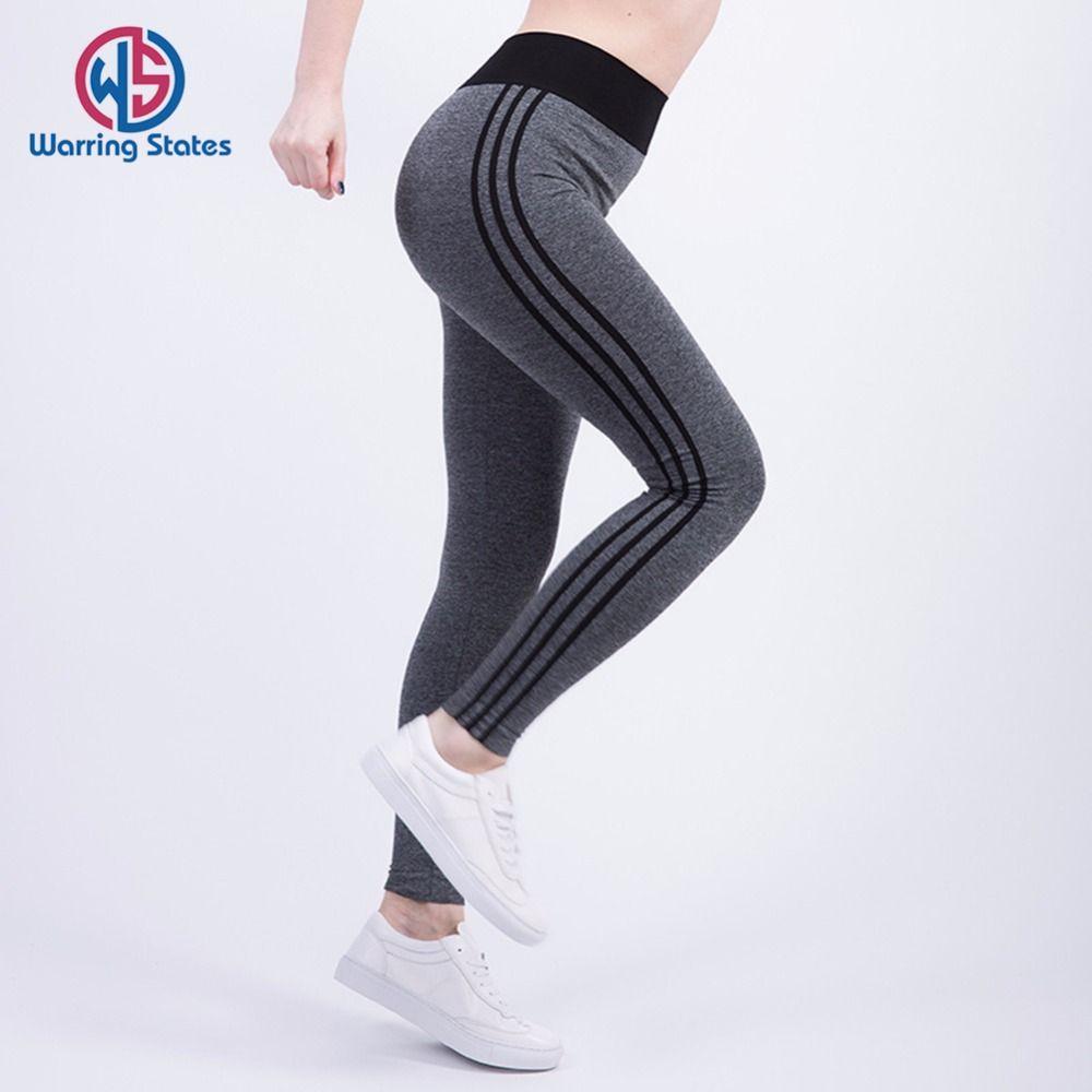 2c04ece9d4716 Warring States Women Fitness Running Leggings Sports Elastic Pants ...