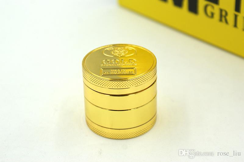 Golden 40mm Grinders 4 Layer zinc alloy Cnc Teeth Tobacco Dry Herb Grinders for Smoking Space Case Grinder Clear Bgolden