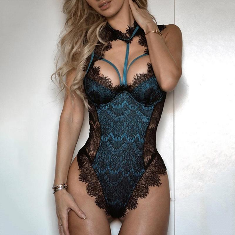 Womens Sexy Lingerie porno Bodysuit Elegant Lace body sexy hot erotic Catsuit pole dance Underwear Nightwear lenceria femenina free shipping