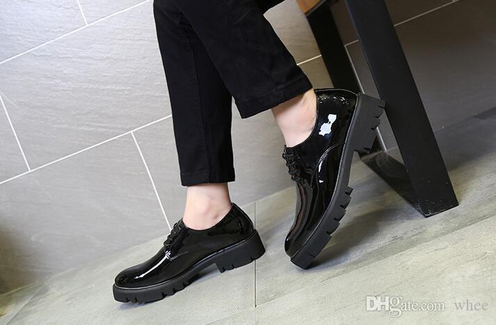 Nueva primavera zapatos de vestir para hombre mocasines negros de lujo zapatos de baile de boda tallar zapatos casuales tamaño 38-43 253