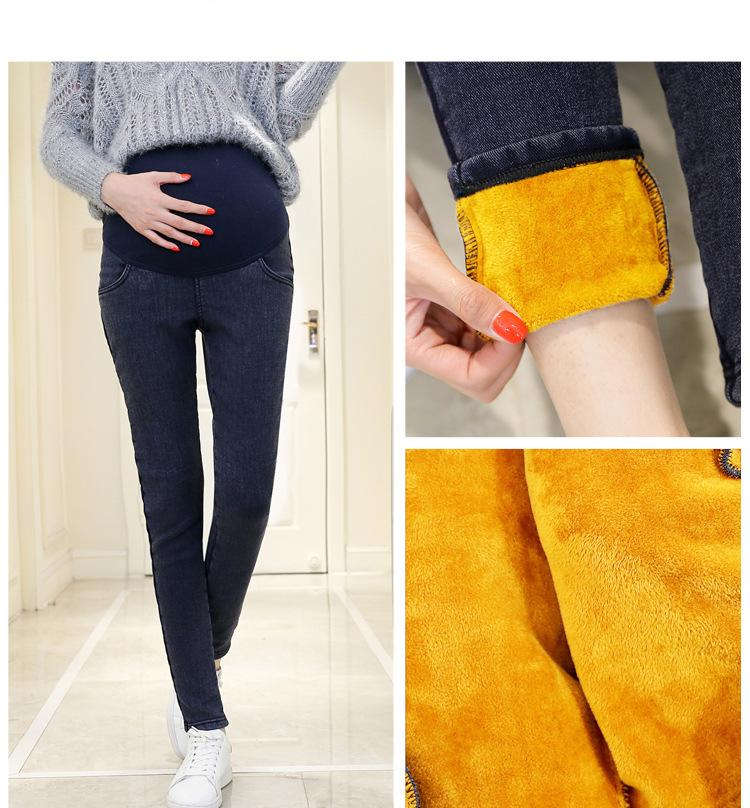 f4a37c98b5cec 2019 2018Hot Warm Thick Pregnancy Denim Pants Winter Fleece Maternity Jeans  For Pregnant Women Plus Velvet Maternity Clothing SIZE3XL From Rainbowny,  ...