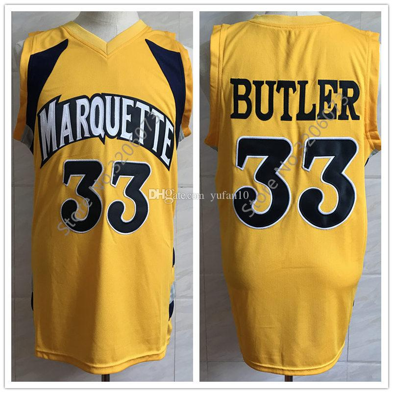 Jimmy Butler Marquette College Golden Eagles Yellow Retro Classic ...