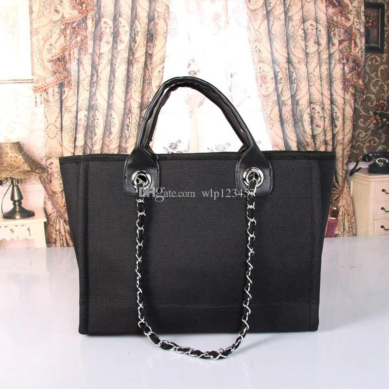 6369d89be22 fashion Famous fashion brand name women handbags Canvas Shoulder bag chains  of large capacity bags
