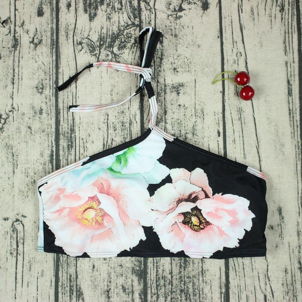 2018 Summer Women Flower Print Bikini Sets Sexy Swimwear Brazilian Bathing Suit Push Up Swimsuit Beach Biquini