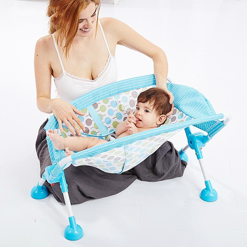 2018 Mental Baby Bath Chair Aluminum Alloy High Bath Chair Folding ...