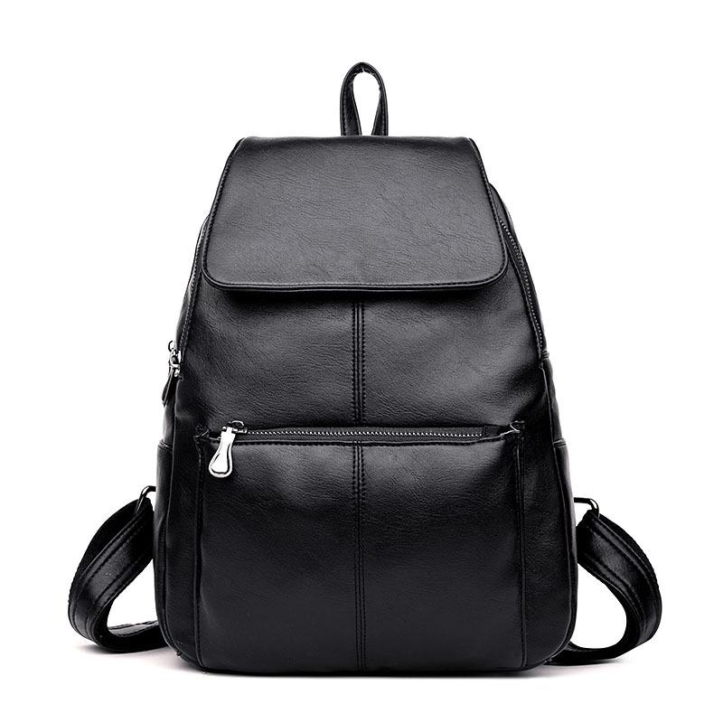 6e8494600d5b Women Fashion Backpack Genuine Leather Backpacks Natural Soft Real Cow  Leather Top Layer Cowhide Ladies Girls School Bag One Strap Backpack  Backpacking ...