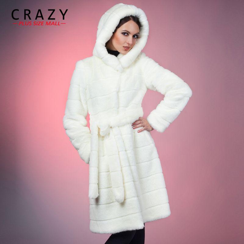 e17d8e34e6b 2019 2018 S 5XL 6XL 7XL Winter Warm Artificial Decent Faux Mink Fur Coat  With Hood White Luxury Fake Fur Coats Plus Size Women Cloth D18110501 From  ...