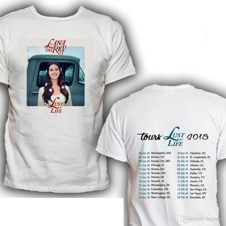 5a15833c32b Lana Del Rey Lust For Life Tour Dates 2018 T Shirt Tees Size S 3XL Print T  Shirt Mens Short Sleeve Hot Top Tee Buy T Shirts Online Funny Tee Shirts  From ...