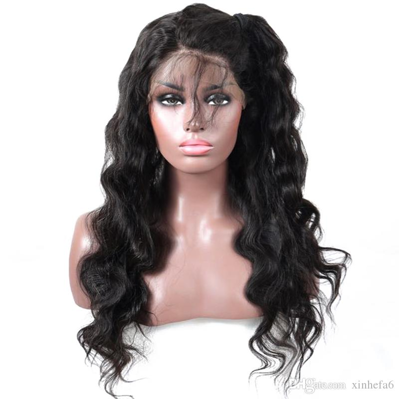 Glueless Full Lace Human Hair Body Wave Wig 7a Grade Lace Front Wig Brazilian Virgin Hair Full Lace Wig With Baby Hair