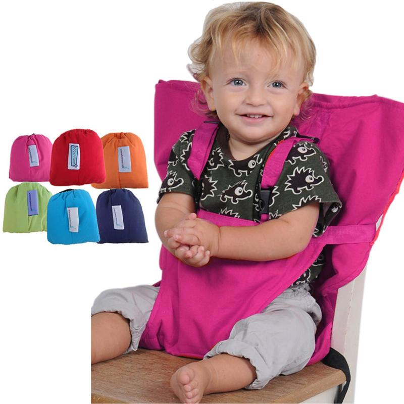 bebf3c763d1e 2019 Baby Portable Seat Kids Chair Travel Foldable Washable Infant Dining  High Dinning Cover Seat Safety Belt Feeding High Chair From Begonior