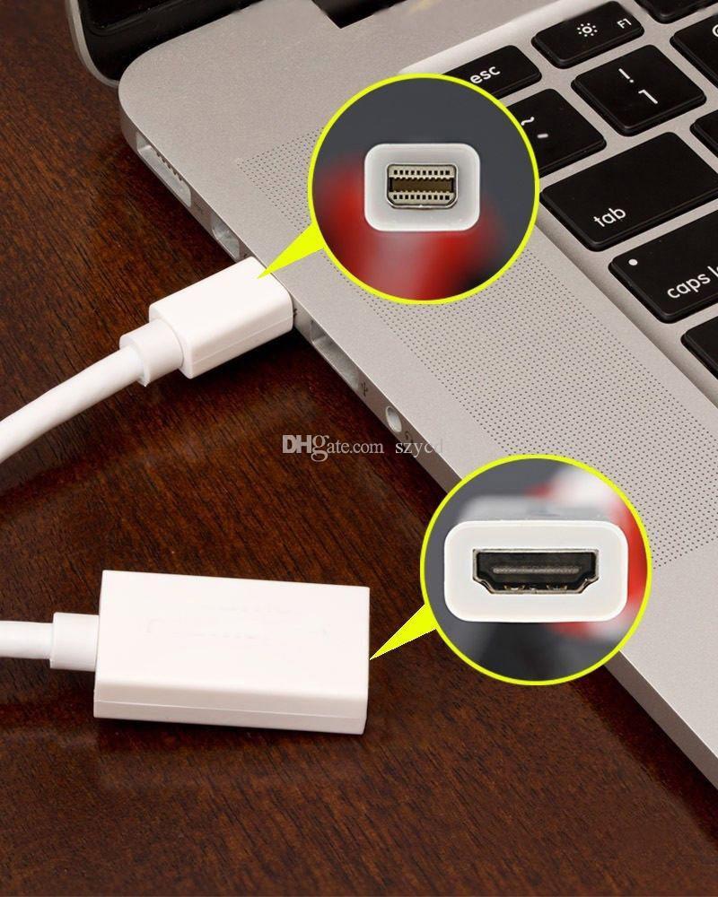 Mini Ekran Portu DP Thunderbolt Erkek hdmi Kadın Adaptör Kablosu Macbook Pro Hava Mac Için